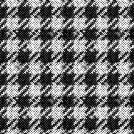 Seamless plaid pattern. Imitation of a texture of rough canvas. Vector image. Monochrome plaid pattern.