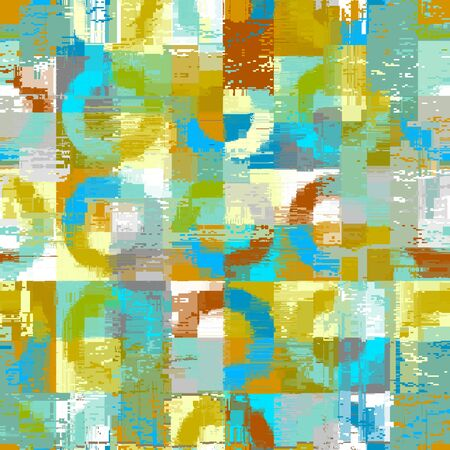 Abstract seamless pattern with imitation of a grunge dirty texture. Vector image.