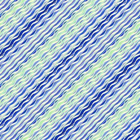 Seamless pattern. Waves pattern in marine style. Vector illustration. Иллюстрация