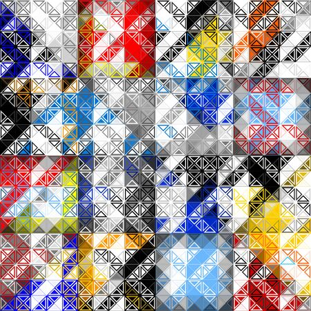 Abstract geometric pattern in low poly style. Pattern of small triangles. Vector image. Ilustração