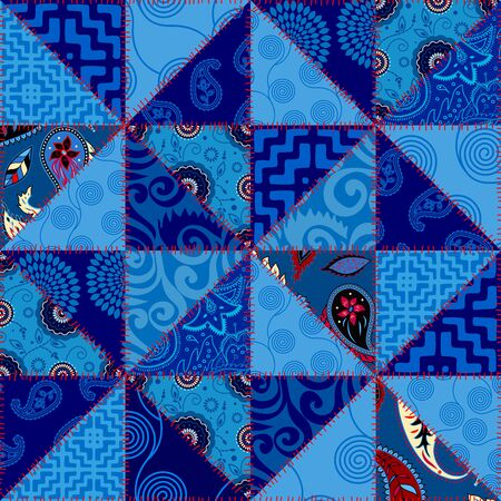 Seamless background pattern. Textile patchwork pattern. Vector image