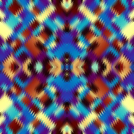 Seamless pattern of a triangles.. Imitation of abstract ornamental carpet texture.. Vector image.