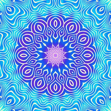 Ornamental mandala on multycolor background. Vector image.