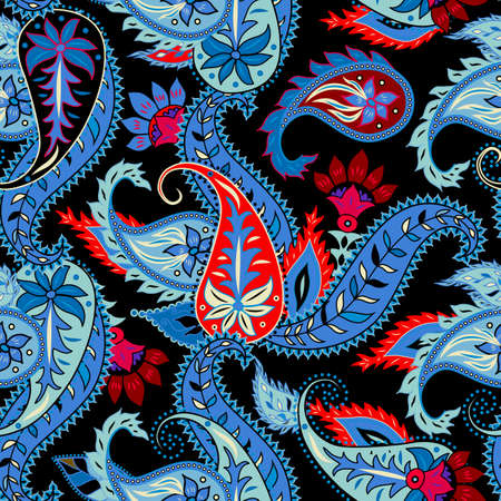 Paisley pattern. Seamless pattern in indian style. Vector image.