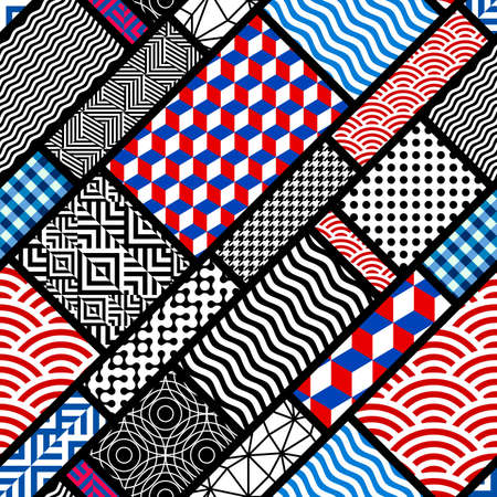 Geometric abstract pattern in patchwork style.
