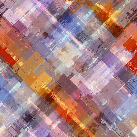 Vector image with imitation of grunge datamoshing texture.