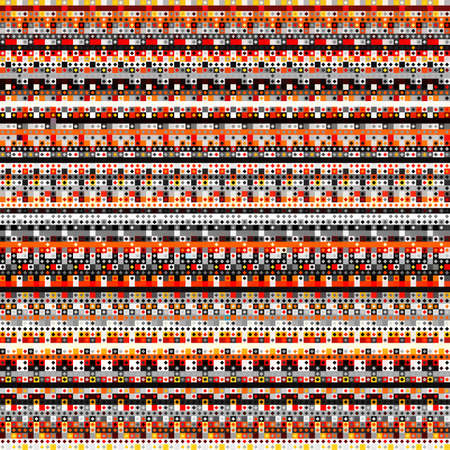 Geometric wavy abstract pattern. Polygonal square background. Vektorgrafik