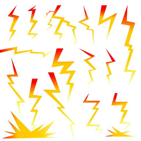 Thunder vector design icon on white background illustration.