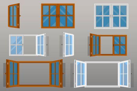 Opened windows vector design.