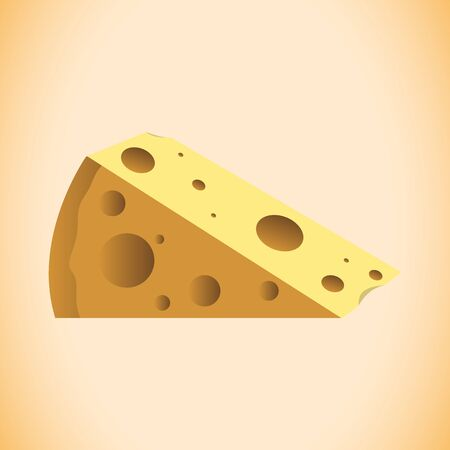 A  cheese vector design on plain background. Иллюстрация