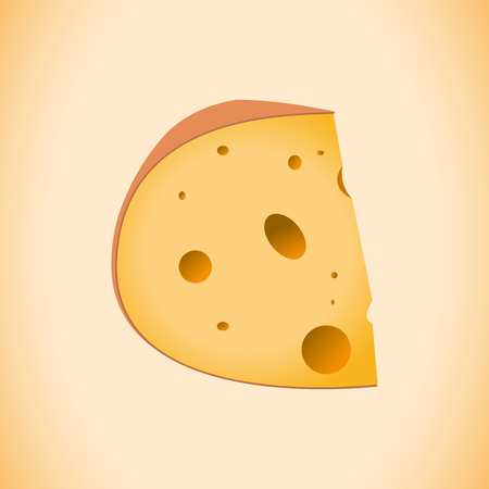 A cheese vector design on plain background.