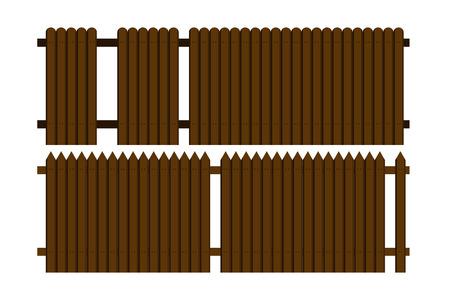 wood fence vector design