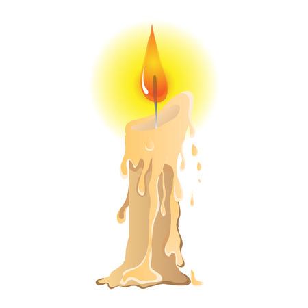 Melting candle vector design Çizim