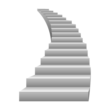 Grey stairs vector design on a white background