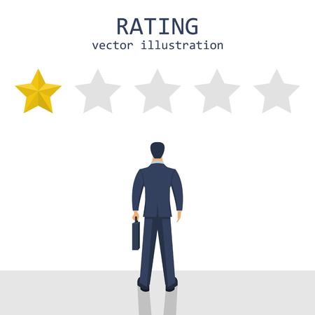 Businessman rating stars vector design illustration Reklamní fotografie - 119290972