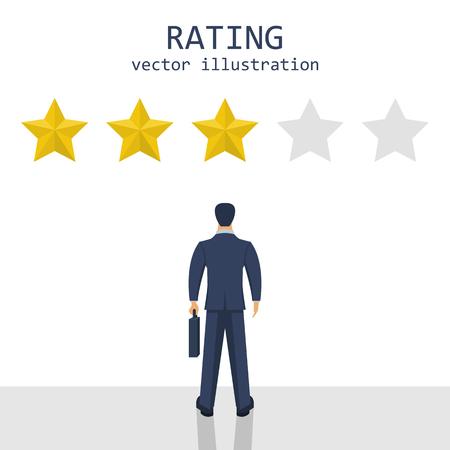 Businessman rating stars vector design illustration Reklamní fotografie - 119290974