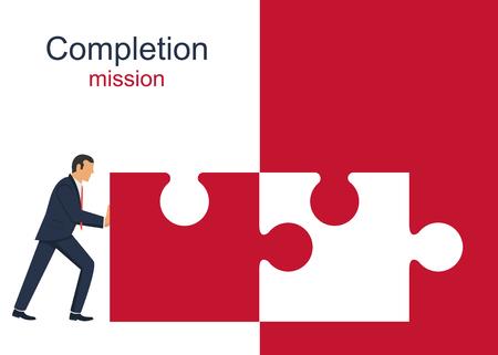 Completion mission vector design illustration Vektorové ilustrace