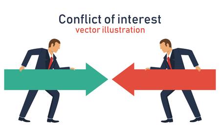 Illustration de conception de vecteur de conflit d'intérêts
