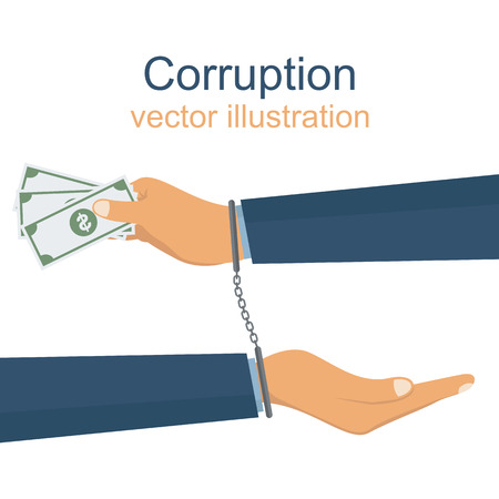 Corruption vector design illustration Illustration