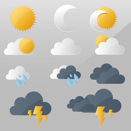 Weather clouds vector design illustration