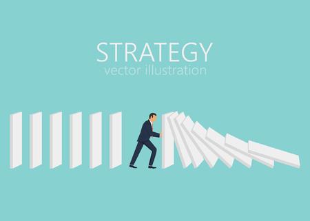 Business strategy concept vector design illustration Stock Illustratie