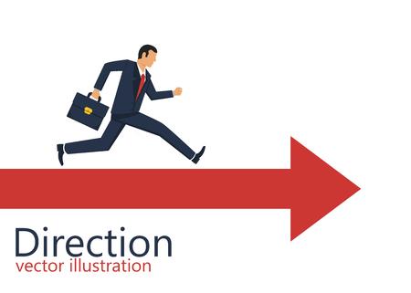 Direction choosing flat vector design illustration, dilemma Illustration
