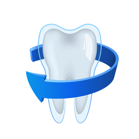 3d tooth vector design illustration isolated on white background Illustration