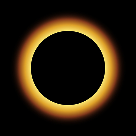 Total eclipse vector design illustration 向量圖像