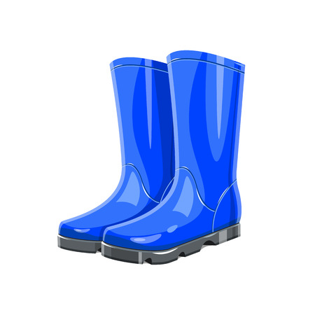 Rubber garden boots vector design illustration isolated on white background