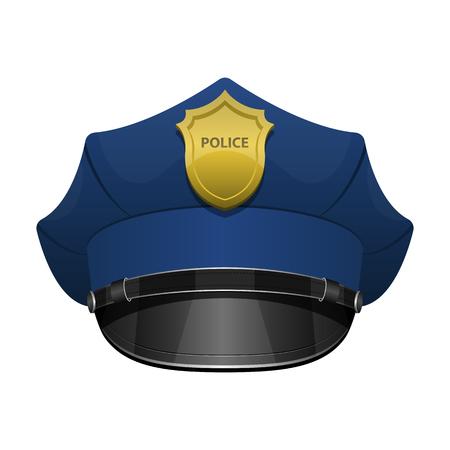 Police officer hat vector design illustration isolated on white background