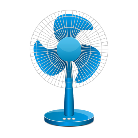 Electric fan vector design illustration isolated on white background