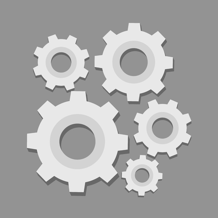 Gear vector design illustration isolated on background