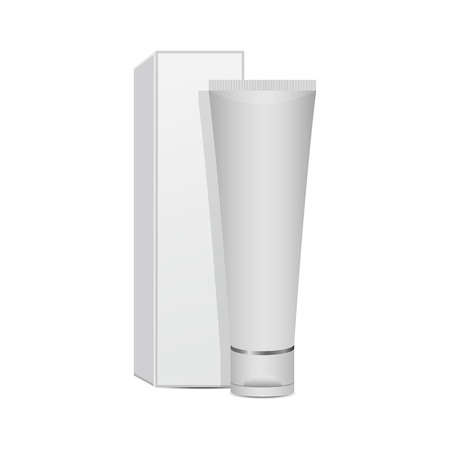Toothpaste mockup vector design illustration isolated on white background Banco de Imagens - 121914385