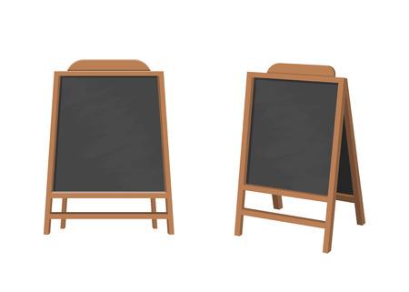 Menu anouncement board vector design illustration isolated on white background Ilustração