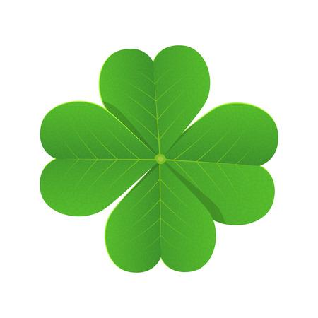 Four leaf clover for luck vector desgin illustration isolated on white background Illustration