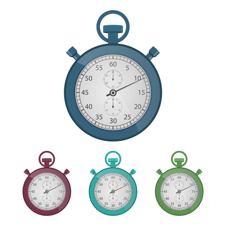 Vintage stopwatch vector design illustration isolated on white background Ilustração