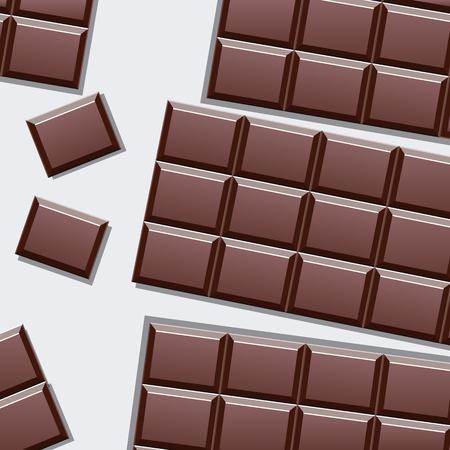 Delicious chocolate bar vector design illustration