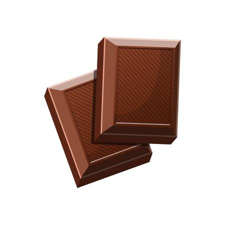 Chocolate bar vector design illustration isolated on white background Stok Fotoğraf - 122623408