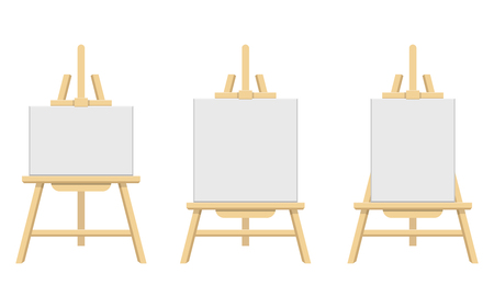 Wooden easel vector design illustration isolated on white background Ilustração