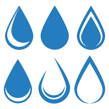 Water drop icon set vector design illustration isolated on white background Иллюстрация