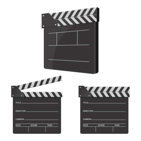 Director clapboard vector design illustration isolated on white background Vettoriali