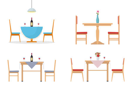 Dining table vector design illustration isolated on white background
