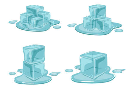 Ice cube vector design illustration isolated on white background 矢量图像