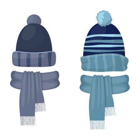 Winter cap vector design illustration isolated on white background
