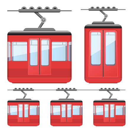 Cableway funicular vector design illustration isolated on white background