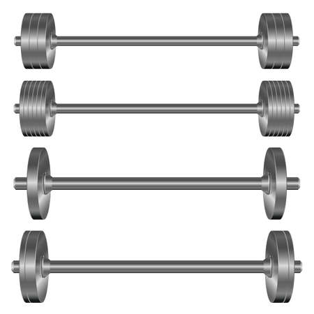 Dumbbells set vector design illustration isolated on white background