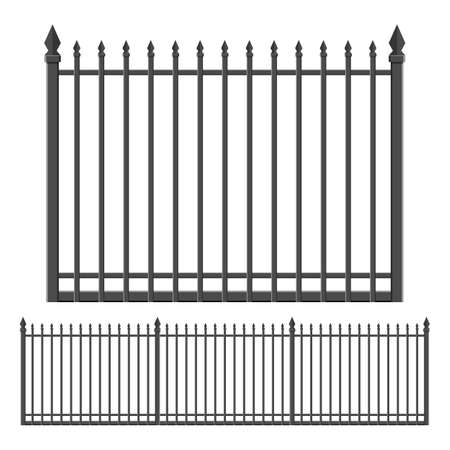 Iron forged fence vector design illustration isolated on white background