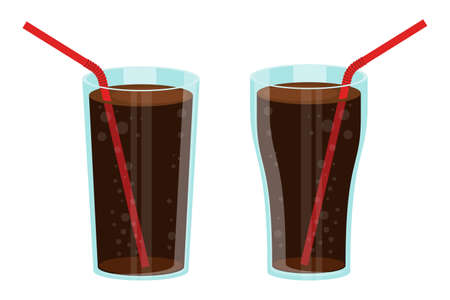 Glass of soda vector design illustration isolated on white background