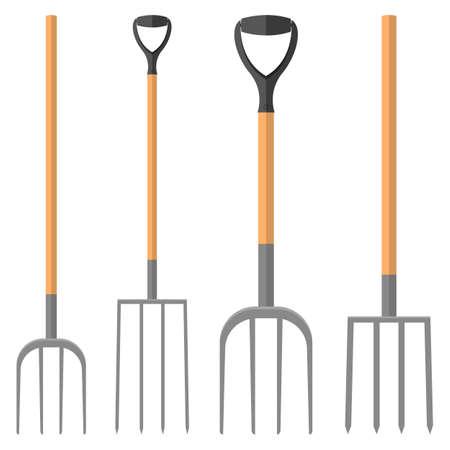 Pitchfork vector design illustration isolated on white background