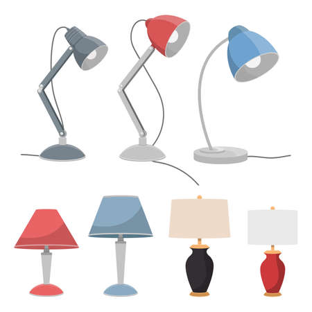 Table lamp vector design illustration isolated on white background